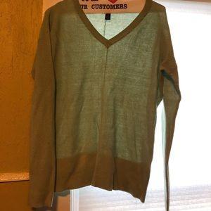Mint green gap v-neck light sweater